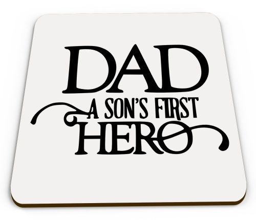 Dad A Sons First Hero Glossy Mug Coasters
